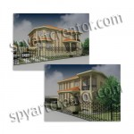House project and 3D render